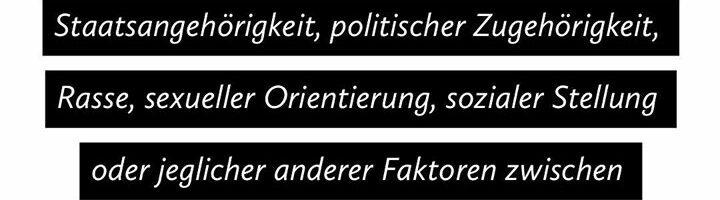 Gegen Rassismus, gegen Antisemitismus, gegen …