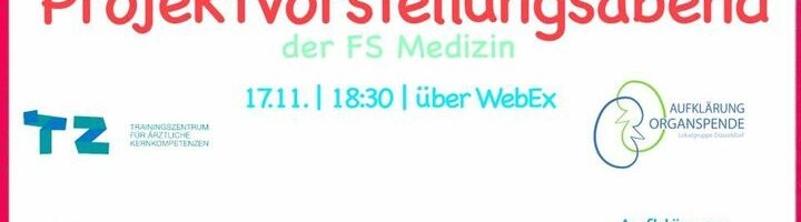 New event: Projektvorstellungsabend der Fachschaft …